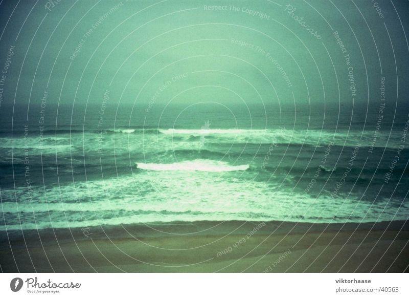 Atlantic Beach Atlantic Ocean Surf Portugal Vacation & Travel Twilight Waves