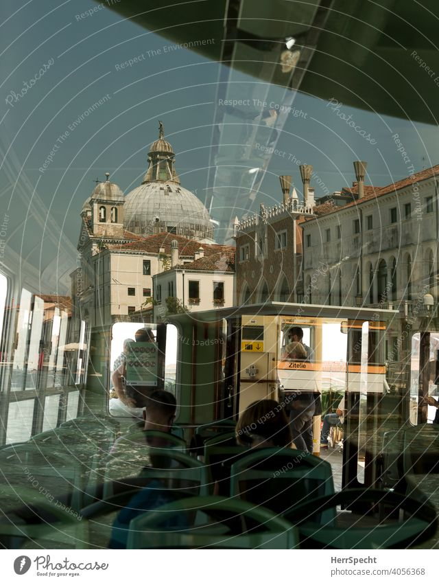 Reflections in the Vaporetto III Venice Italy Old town Tourist Attraction Water Building Vacation & Travel Architecture Channel Tourism Historic Boating trip