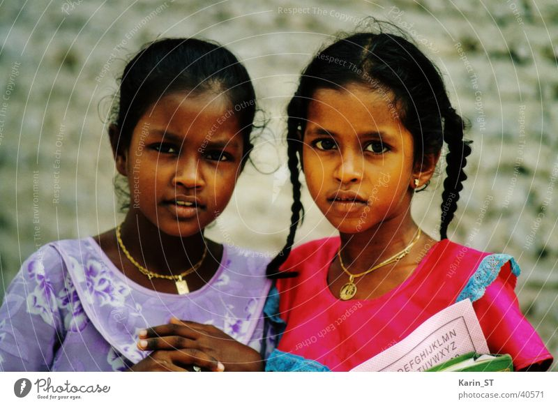 Maldives - Schoolgirl Girl Child Braids Vacation & Travel Indigenous