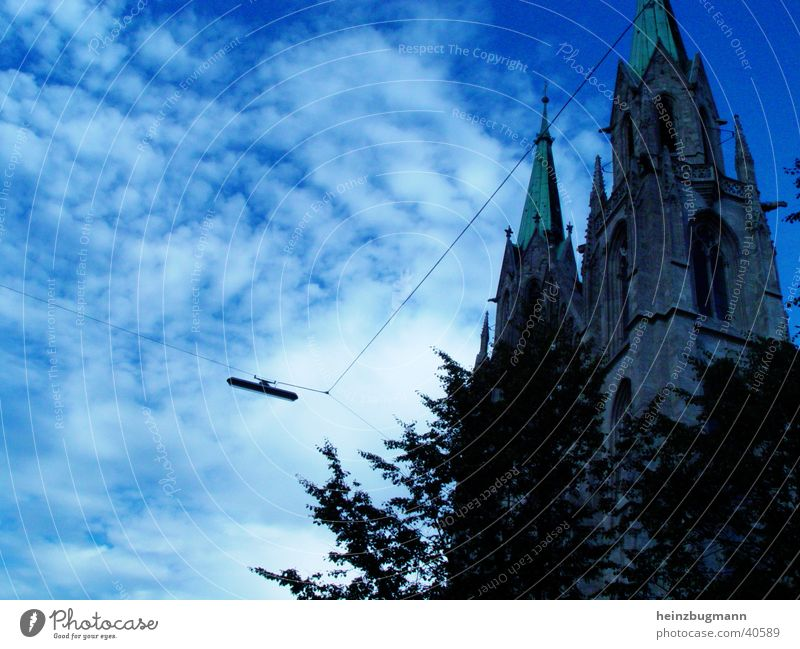 Church in Munich Theresienwiese Europe Germany Religion and faith Sky