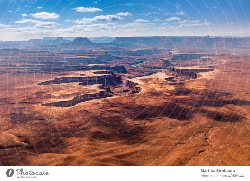 Scenic view over Canyonlands ational Park and the Green River, Utah national park canyonlands national park island usa green river island in the sky landscape