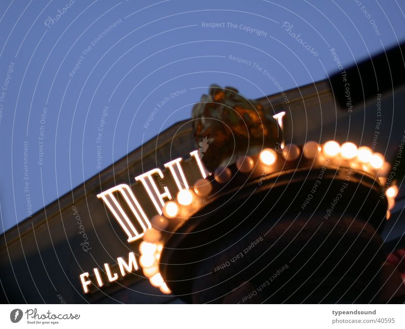 film light Night Classic Typography Style Night life Cinema Concert Music Film industry Stage play people advertising Luxury Blue Berlin