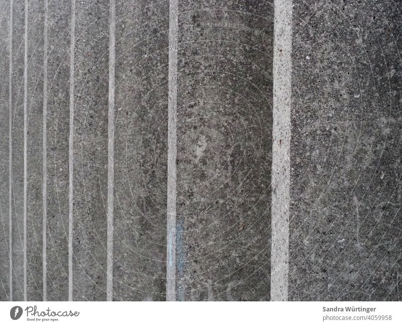 Pattern of grey parallel concrete walls Town urban Parallel Concrete Concrete wall Exterior shot Gray Wall (building) Architecture Gloomy Cold Colour photo