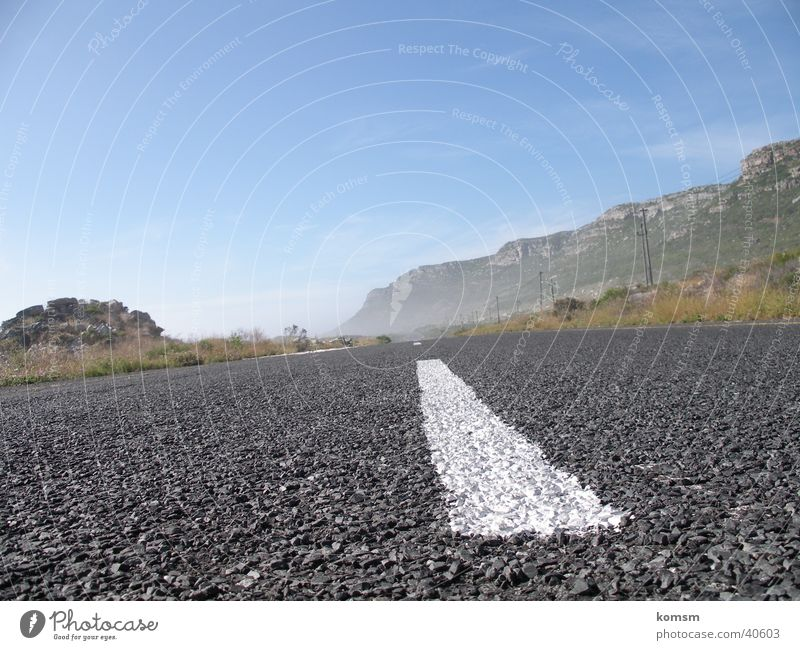 Street 01 Gray Driving Roadside Green White Line Transport Perspective Escape Nature Landscape Vacation & Travel Sky Blue Exterior shot