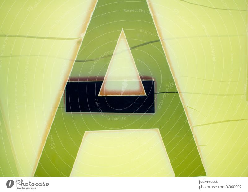 A and Divis weathered on the box Design Plastic Typography Retro Greeny-yellow Reaction Weathered Double exposure Lightbox Abstract Structures and shapes