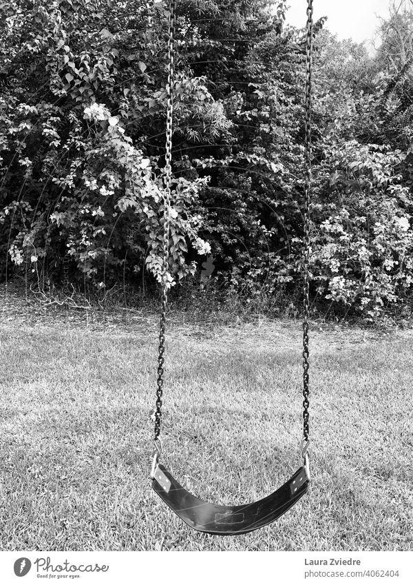 Lonely children playground Playground Swing swinging To swing Playing Infancy Joy Park Kindergarten playground equipment playgrounds todler Toys Exterior shot