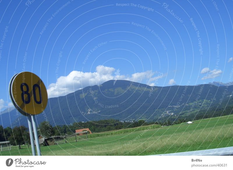 Nature Green Clouds Grass Landscape Graffiti Transport Speed Idyll Border