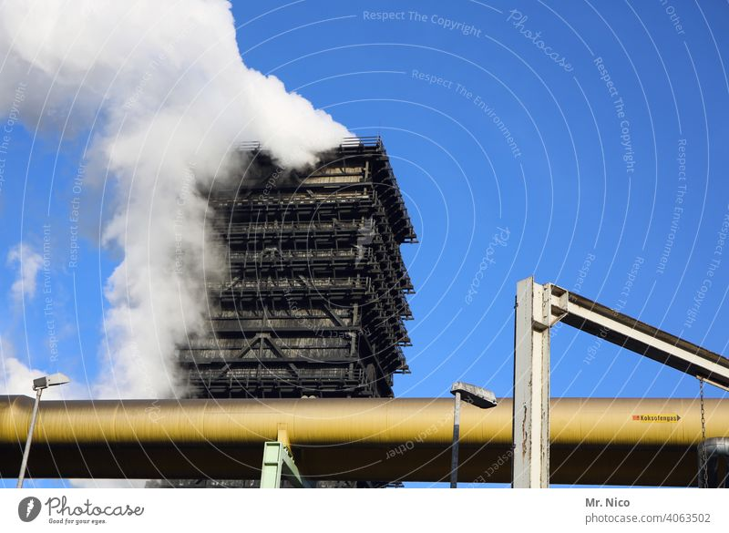 cooling tower Industrial plant Heavy industry Steel construction ardor Industrial architecture Factory Pipelines Blast furnace Industrial district The Ruhr