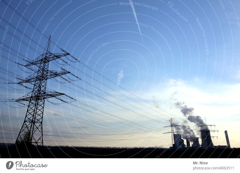 Energy Connection transmission line pylon Climate high voltage Construction stream Energy crisis Technology Cable transfer Volt Force Sky ecology Environment