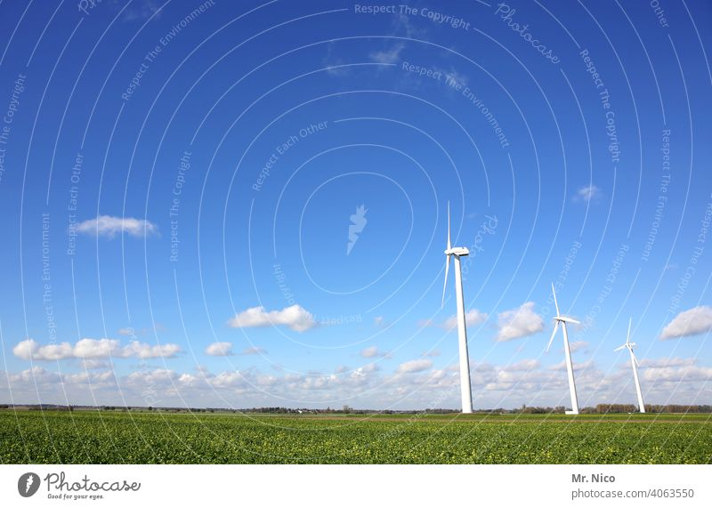 wind turbine Sky Wind energy plant Energy industry Renewable energy Technology Ecological Environment Environmental protection Eco-friendly Energy crisis Clean