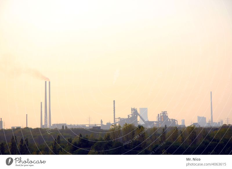 Air pollution Harmful substance power station Dirty Energy industry Climate Climate protection Smoke Chemical factory Chemical Industry Environmental pollution