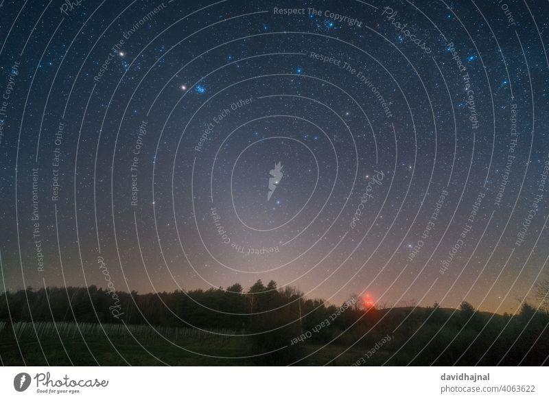 The zodiacal light over the Palatinate Forest near Bad Dürkheim. Zodiac Light Night Sky Stars Milky way Earth Planet Dust Reflection scatter Phenomenon Physics