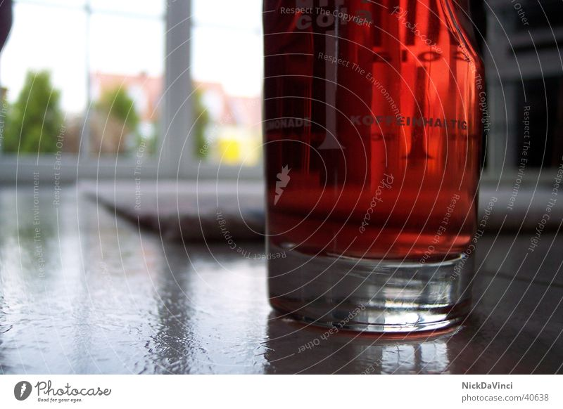 Lonely glass on a wide corridor ;-) Beverage Red Alcoholic drinks Glass Fluid