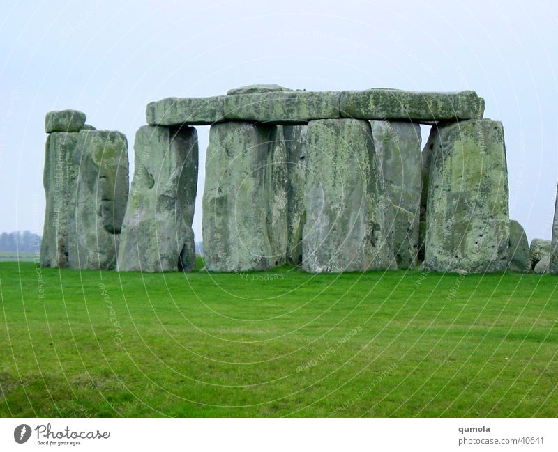 Nature Sky Green Calm Meadow Gray Stone Landscape Moody Architecture Serene Gate Monument Manmade structures Historic