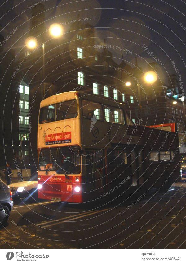 Vacation & Travel Street Dark Building Bright Moody Lighting Transport Tourism Car door Lantern London Bus England Mystic Means of transport
