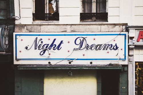 old neon sign - Night Dreams - night dreams Light Club Night life Lamp Nightclub Bar Red light Red-light district Dance go dancing Disco Party
