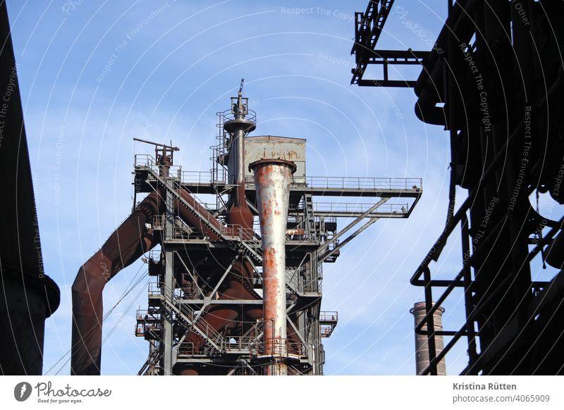 blast furnace in the landscape park duisburg-north Steel factory smelting works Blast furnace decommissioned Erstwhile Industrial plant Industrial monument