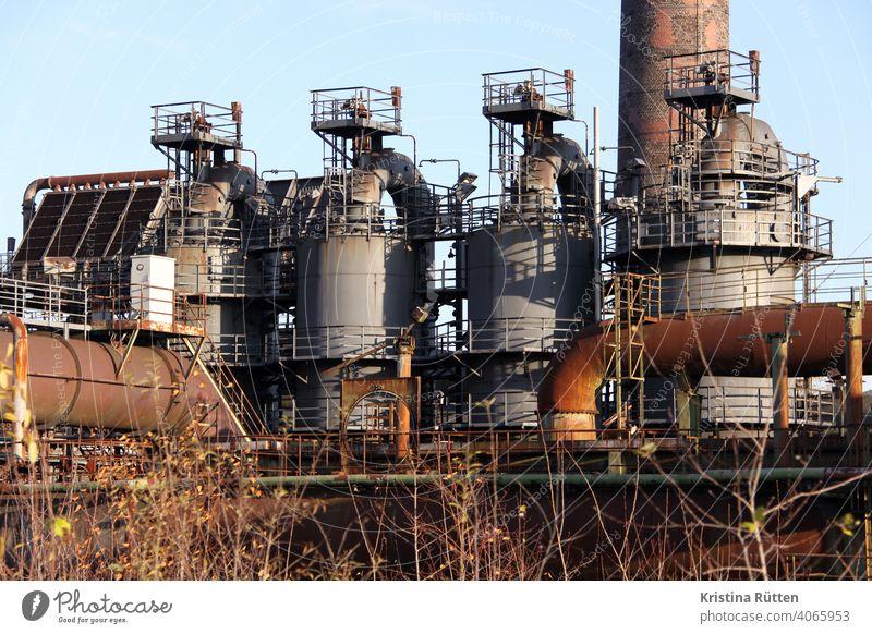 Blast Furnaces Steel factory smelting works Blast furnace decommissioned Erstwhile Industrial plant Industrial monument Industrial heritage Iron