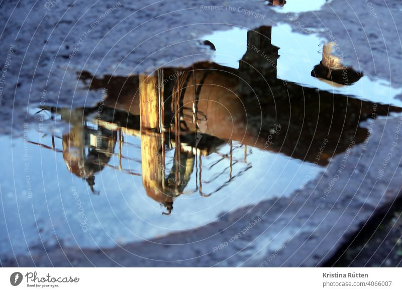 blast furnace reflection Puddle Steel factory smelting works Blast furnace decommissioned Erstwhile Industrial plant Industrial monument Industrial heritage