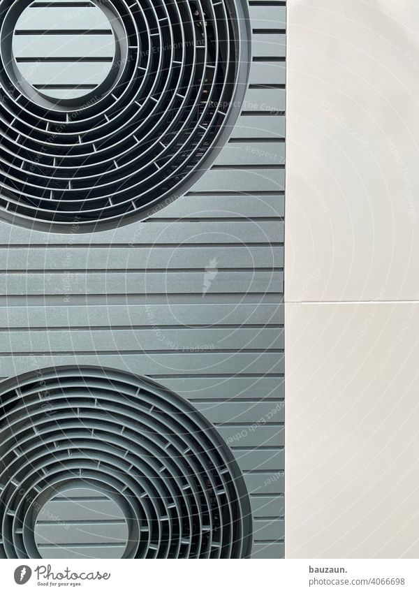 air source heat pump details. Heating Construction site Colour photo Deserted Industry Technology Water Energy industry Provision Air source heat pump Installer