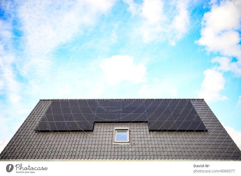 modern photovoltaic system on a roof photovoltaics Solar Energy Innovative Climate sunshine Environment Solar cells Renewable energy Solar Power