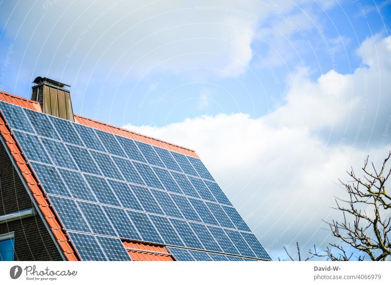 photovoltaics on the roof of a residential building Solar Energy Solar cells Energy industry Sunlight Save promotion Forward-looking photovoltaic system