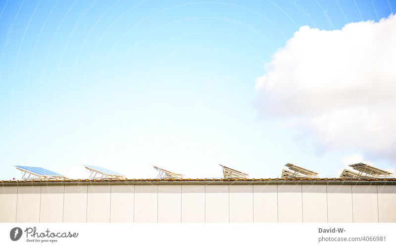 Solar energy - solar cells are illuminated by the sun Solar cells photovoltaics Solar Power Sunlight Sustainability Innovative Eco-friendly Energy generation