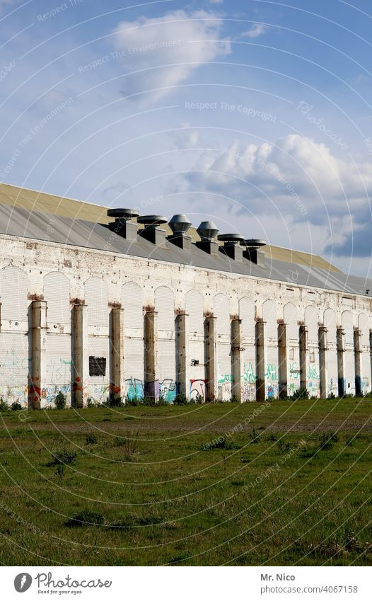 big old building Building Architecture Factory Storage Warehouse Facade Sky Factory hall Workshop Manmade structures production hall Production plant