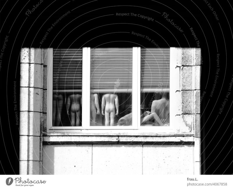 Not a good look Window Shopping center Mannequins discarded Old Storage Naked House (Residential Structure)