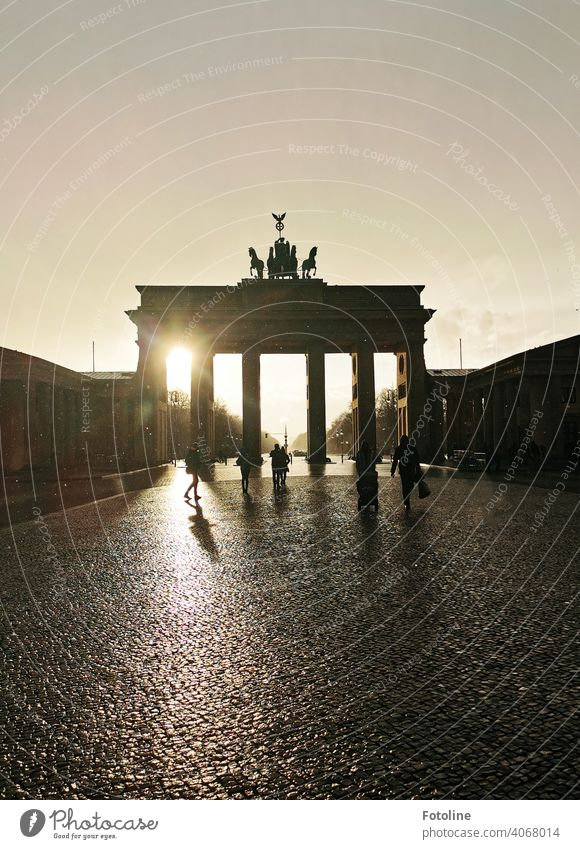 The Brandenburg Gate after the rain II Berlin Architecture Capital city Germany Landmark Tourist Attraction Exterior shot Monument Manmade structures