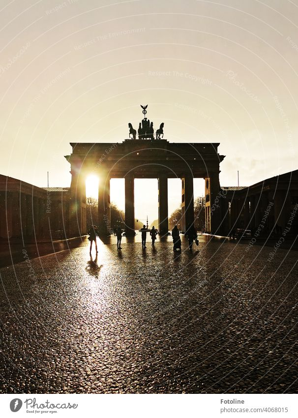 The Brandenburg Gate after the rain Berlin Architecture Capital city Germany Landmark Tourist Attraction Exterior shot Monument Manmade structures Colour photo