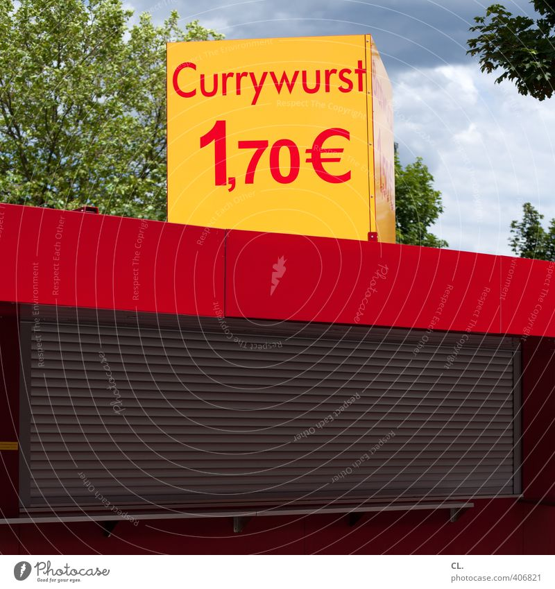 currywurst Food Sausage Nutrition Eating Lunch Dinner Fast food Healthy Eating Sky Beautiful weather Tree Window Diet Poverty Cheap Refrain Thrifty Appetite