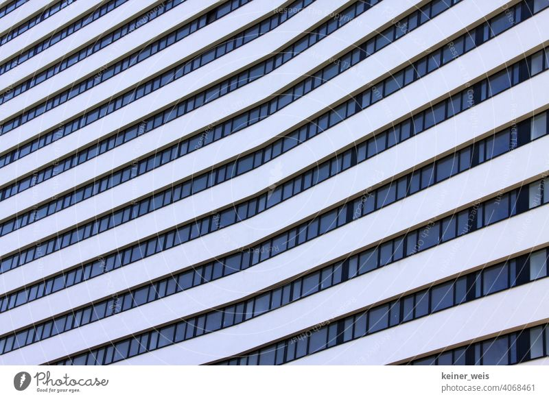 Kink in the architecture of a high-rise building - once upon a time in Bonn Architecture Exterior shot Building Deserted Manmade structures Facade Town