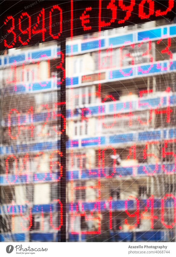 Blurry background with reflections and blurred numbers abstract ad alary backdrop bank blue blurry board change colorful concept currency defocused digit