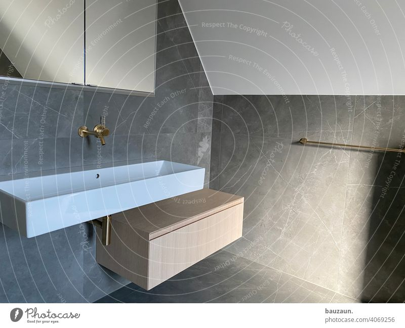 BATHROOM. bathroom Sink Tile Bathroom Clean Interior shot Living or residing Tap Colour photo Wall (building) Interior design Flat (apartment) Deserted
