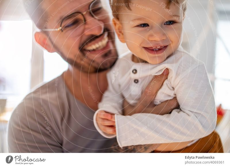 Father and baby son having fun together at home single parent single dad fathers day fatherhood stay at home dad paternity leave modern manhood family child
