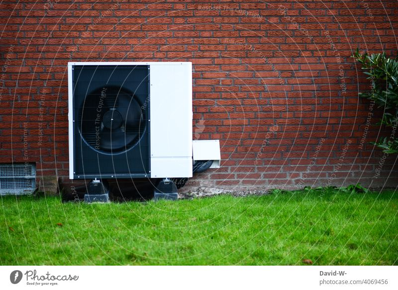 Air source heat pump - ecological sustainable heating Air-to-water heat pump Warmth heating engineering Heating Environmental protection Ecological Innovative