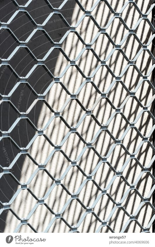 Roller grille and silhouette roller grilles Shadow image Light Light and shadow Exterior shot Colour photo Contrast Deserted Close-up Detail Day