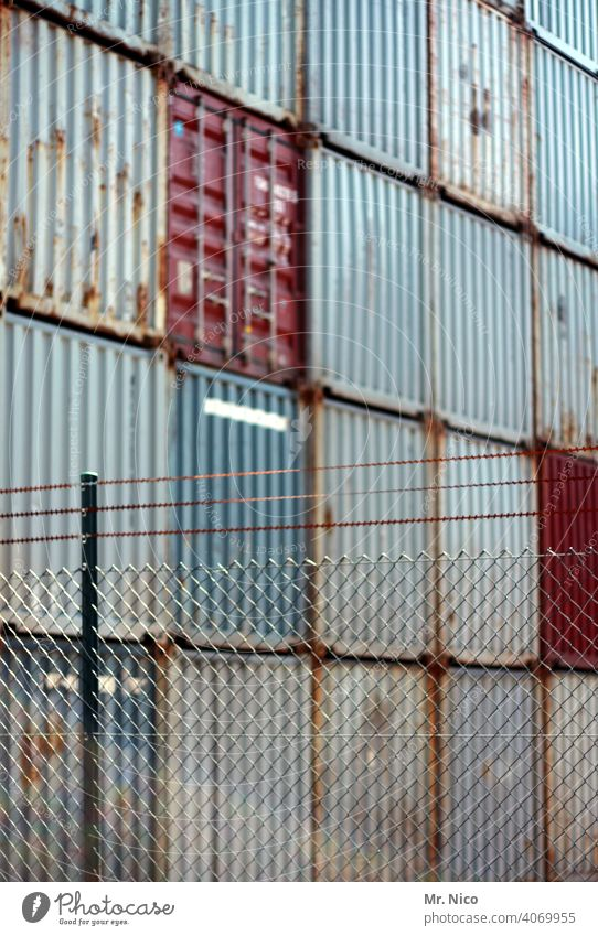 Container terminal Work and employment Trade Container cargo container port Cargo Industrial area Safety Factory site Logistics Stock of merchandise