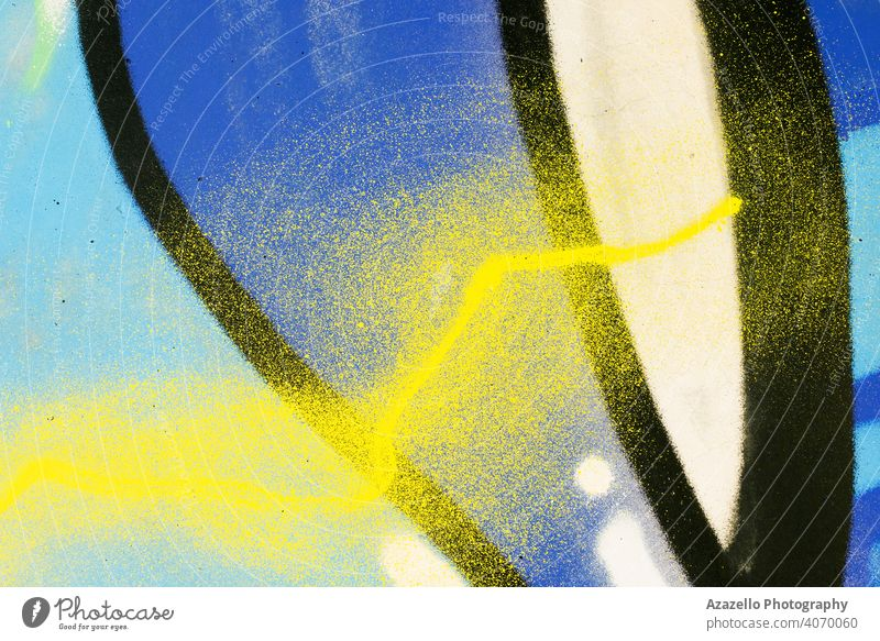 Detail of a graffiti painting. abstract ancient architecture background backgrounds blue brick bricks building cement chaos color colorful concrete construction