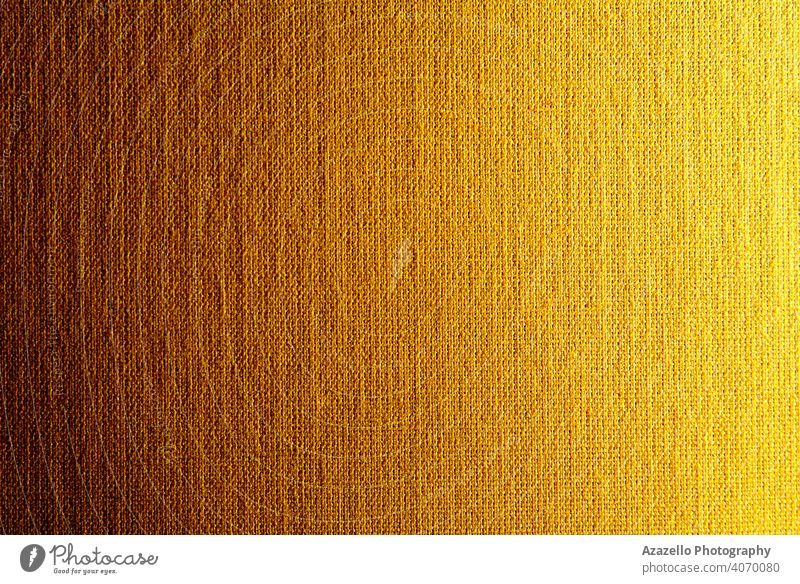 Gradiented canvas texture in yellow-orange 2021 abstract art backdrop background brown burlap carpet closeup cloth color cotton cover decoration design empty