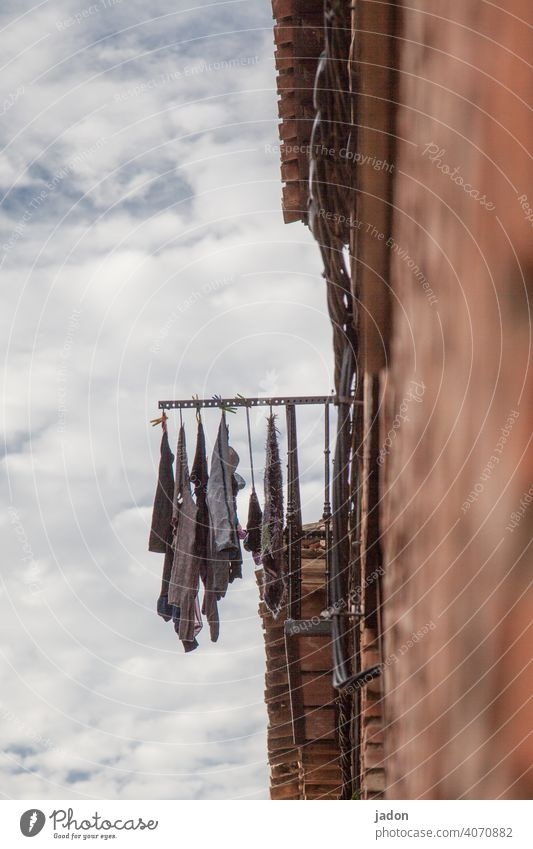 ventilate, ventilate, ventilate! Laundry clothesline Cotheshorse Dry Washing Washing day Hang Living or residing Hang up Housekeeping Photos of everyday life