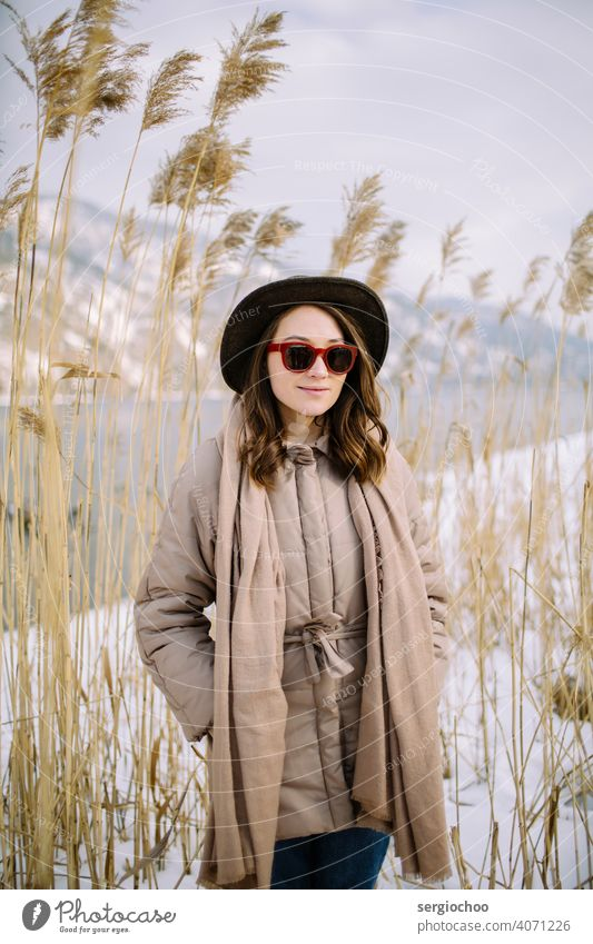 young girl in the hat smiles sunny white woman women wheat adult model natural nature oat oats rye ripe hair harvest lady countryside attractive lifestyle