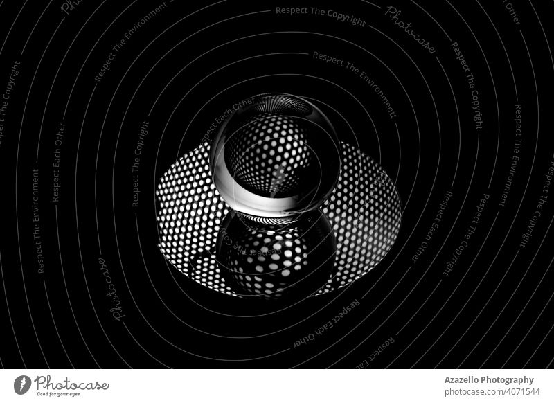 Abstract black and white image of a lensball 2020 abstract objects abstract photography art background black abstract black background black minimalism centre