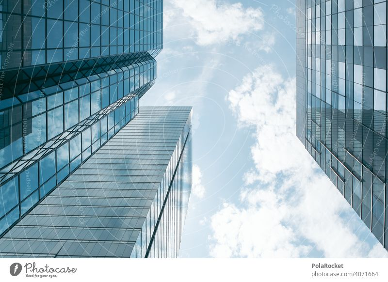 """#A0# Big city and its """"towers of glass"""" City skyscrapers Sky Skyward Avaricious greedily Concrete Concrete wall Concrete block Glas facade Business"""