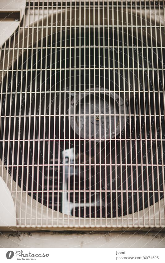 Fan of an air heat pump | ecological, sustainable, modern and environmentally friendly heating system Air source heat pump Modern Sustainability Heating Warmth