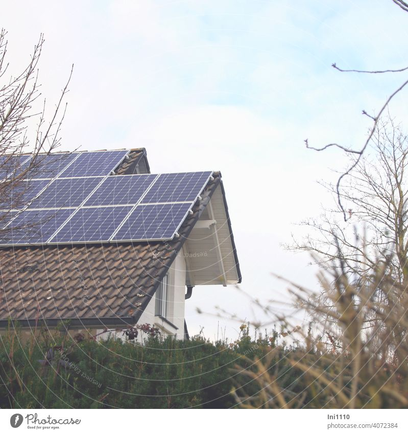 Photovoltaic system on the roof of a residential building Solar Energy roof area Apartment Building photovoltaic system power supply Solar Power co2