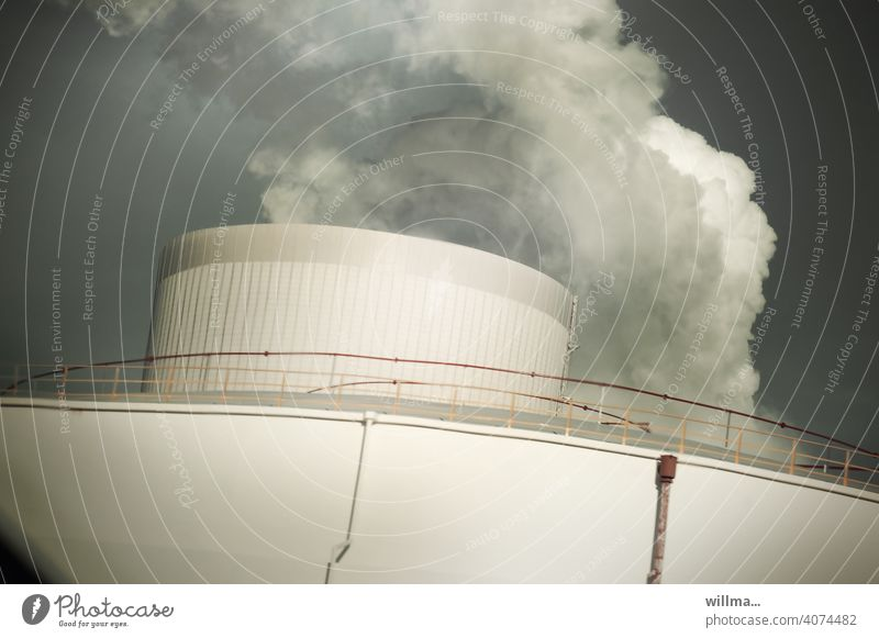 The steamer co2 CO2 emission Coal power station Thermal power station Energy industry Environmental pollution Air pollution smoke Smoke Vent Climate change