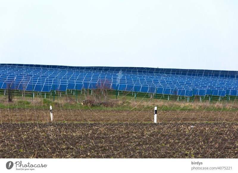 An area of many photovoltaic panels. Solar park , Solar open space plant in the middle of agricultural land... many solar panels , Photovoltaics photovoltaics