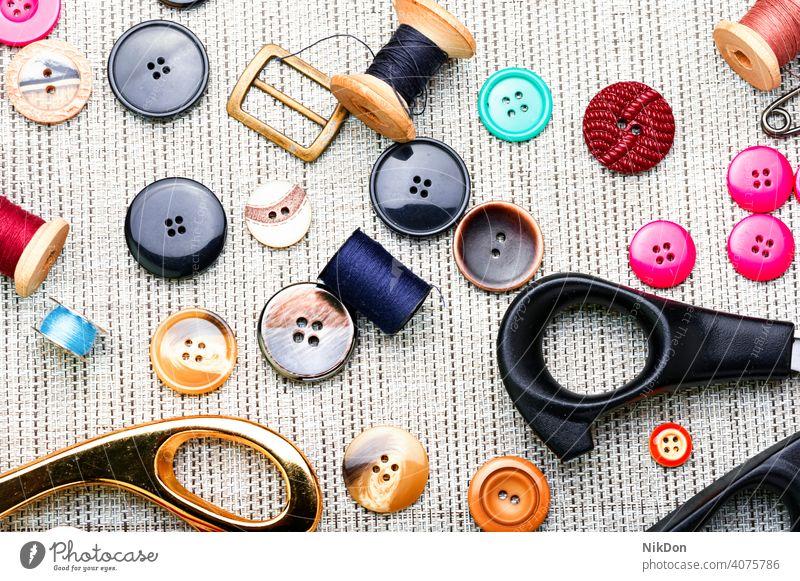 Set sewing accessories thread tailor sewing supplies craft needlework hobby button handicraft handmade scissor seamstress bobbin design fashion tool colorful
